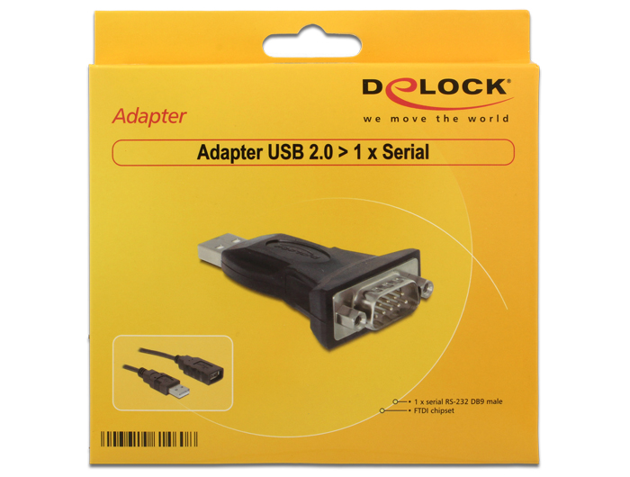 Delock products 61460 delock adapter usb 20 1 x serial 1 prev freerunsca Image collections