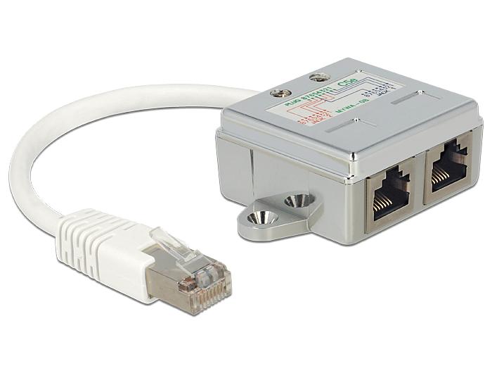 Miraculous Delock Products 65177 Delock Rj45 Port Doubler 1 X Rj45 Plug To 2 X Wiring 101 Mecadwellnesstrialsorg