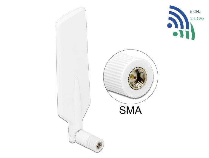 12430 Delock LTE WLAN Dual Band Antenna SMA 1 ~ 4 dBi