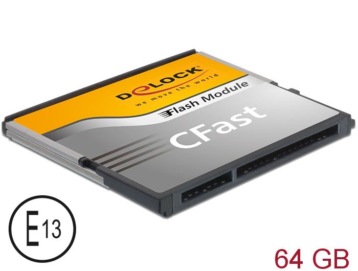 Delock Produits 54702 Delock CFast-Card SATA 6 Gb/s 64 GB