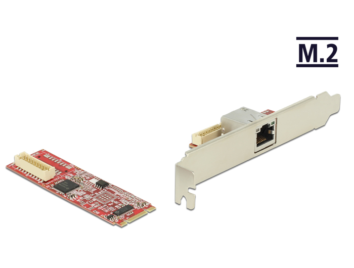 Delock Products 62751 Delock M.2 Adapter M.2 > 1 x RJ45 Gigabit LAN ...