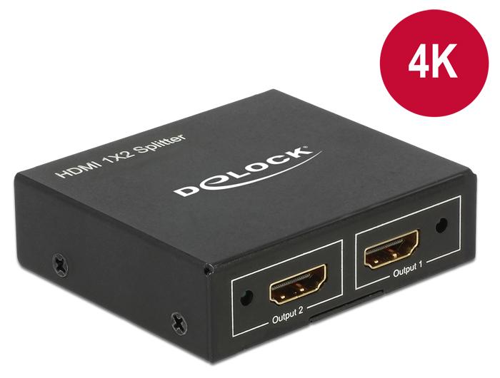 Delock Products 87701 Delock HDMI Splitter 1 x HDMI in > 2 x HDMI out 4K
