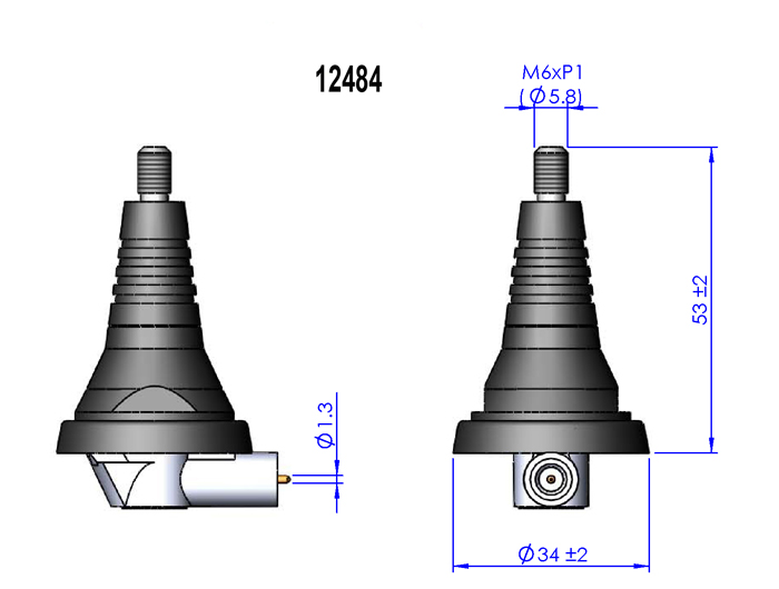Delock Produkte 12484 Delock Antennenmontagefuss Kfz M6 Gewinde Fme