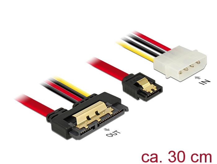 Delock Produkte 85230 Delock Kabel SATA 6 Gb/s 7 Pin Buchse + Molex ...