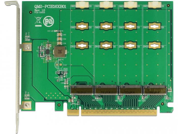 Delock Products 89835 Delock PCI Express x16 Card > 4 x internal