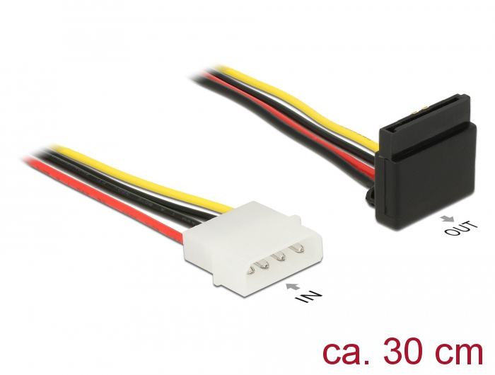 DeLOCK Cable Power SATA 15 Pin to 4 Pin Molex SATA Cables