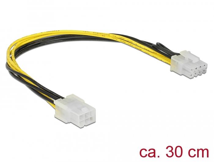 20cm PCI EXPRESS PCI-E 4 6 pin a 8 Pin Alimentazione Maschio Donna Cavo Adattatore