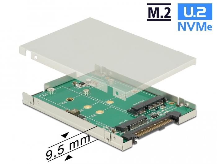 Delock 25 Converter SATA Express U2 1 X M2 MSATA With Enclosure 95 Mm