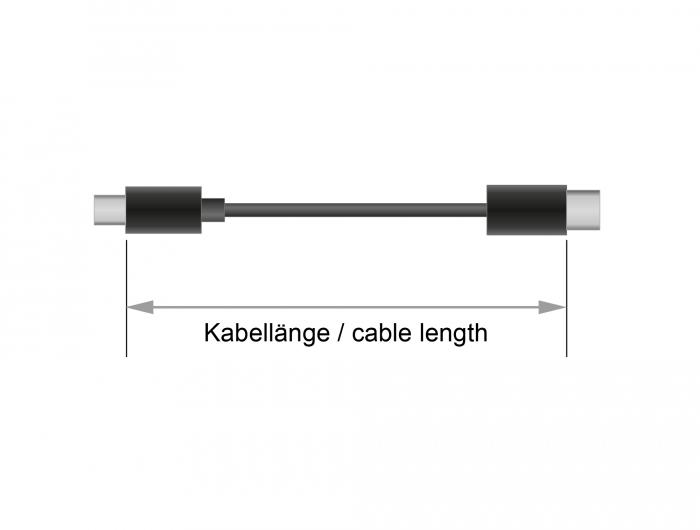 delock produkte 83043 delock usb 2 0 kabel type c zu type c 0 5 m 5 a e marker. Black Bedroom Furniture Sets. Home Design Ideas