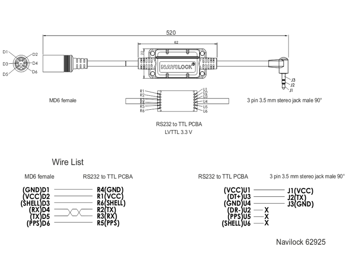 Navilock Products 62925 Navilock Connection Cable MD6 ... on camera schematic, power schematic, stereo jack diagram, stereo jack symbol, toggle switch schematic, stereo mini jack, stereo jack soldering, microphone schematic, stereo phone jack wiring, dimmer switch schematic, keyboard schematic, wire schematic, dpdt switch schematic, usb cable schematic, usb connection schematic, stereo headset with microphone wiring diagram, stereo jack datasheet, bluetooth schematic, usb port schematic,