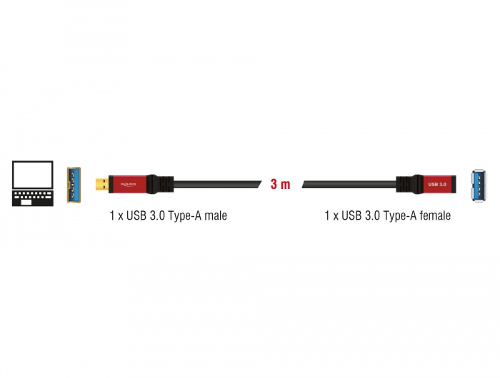 delock products 82754 delock extension cable usb 3 0 type