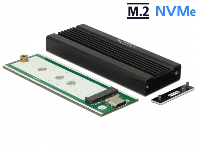 PCIe M Key M.2 NVME SSD to USB 3.1 Type C USB-C Gen2 10Gb Adapter with Enclosure