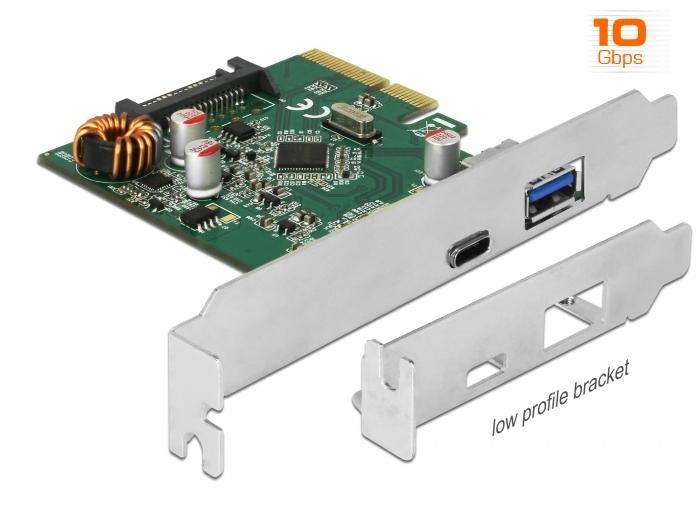 Iycorish PCI-e X4 Super Geschwindigkeit USB 3.1 Typ C a Sockel Erweiterungs Karte 2A1C Port VL805