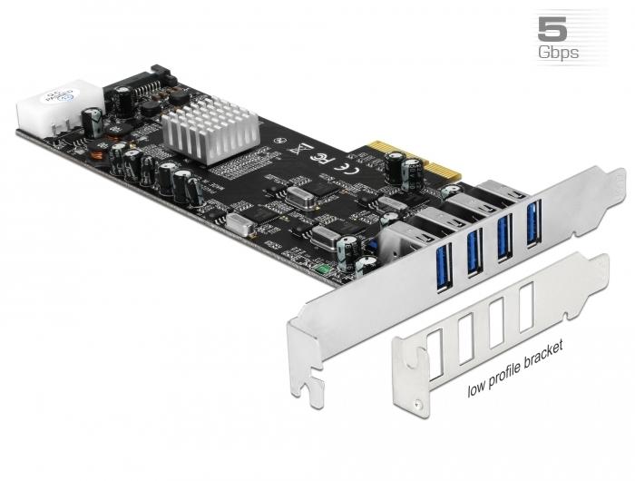 Delock Products 89365 Delock PCI Express x4 Card > 4 x external USB