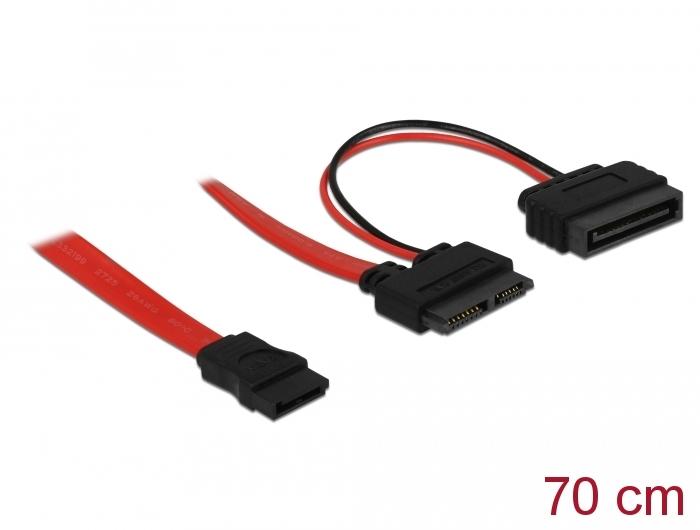 Delock Products 84799 Delock Cable Slim SATA female > SATA 7