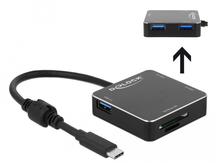 Delock Products 64042 Delock 3 Port USB 3 1 Gen 1 Hub with USB Type