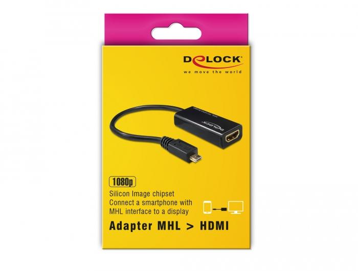 Delock Products 65314 Delock Adapter MHL Micro USB 5 pin male > High