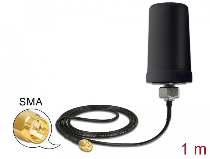 Delock Products 12544 Delock GSM / UMTS Antenna SMA plug 0 7 - 1 6