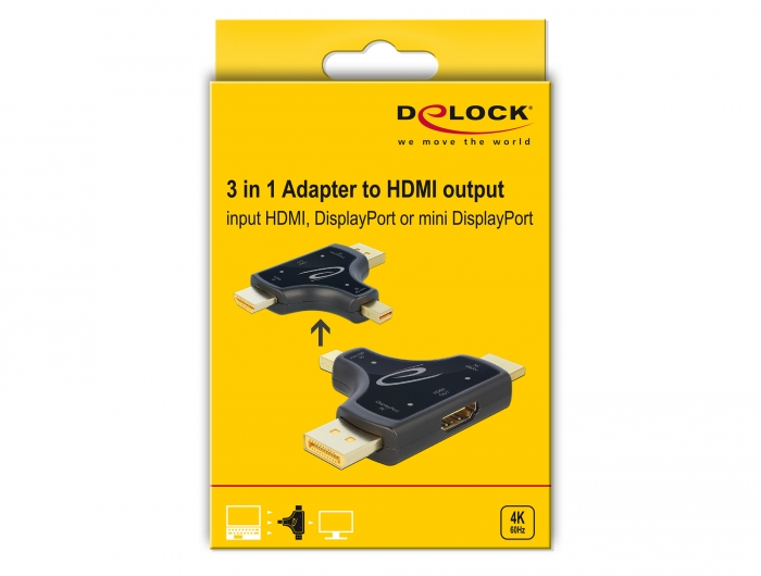 Delock Products 64059 Delock 3 in 1 Monitor Adapter with