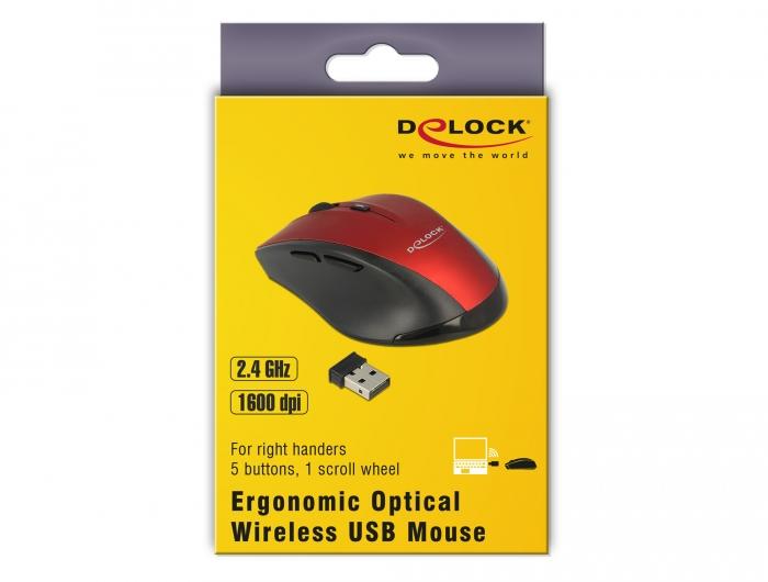 Delock Products 12493 Delock Ergonomic optical 5-button mouse 2 4