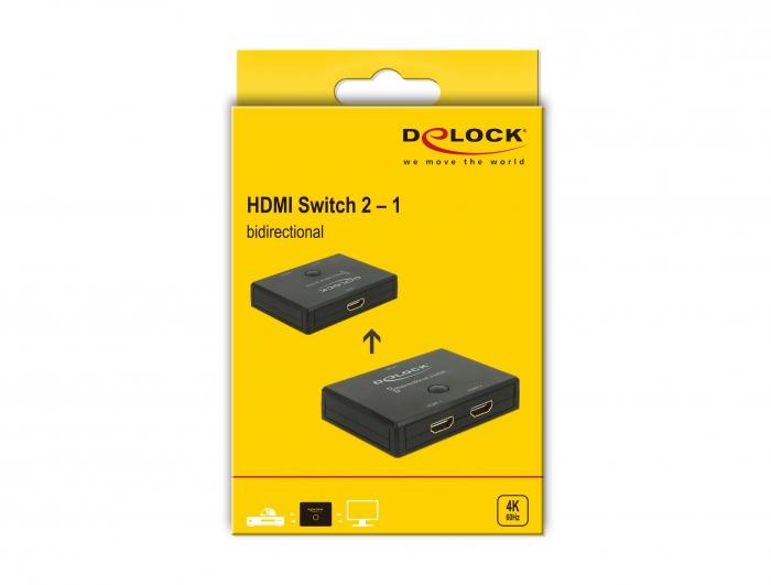 Delock Products 18749 Delock Hdmi 2 1 Switch Bidirectional 4k 60 Hz